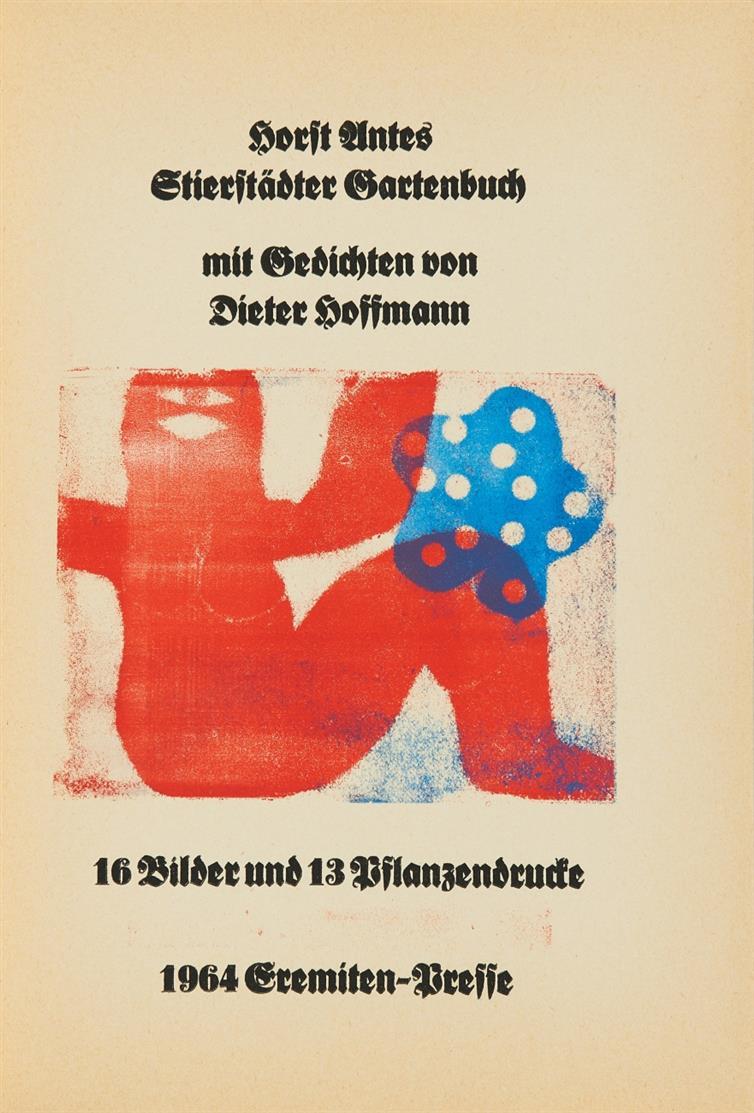 Antes/ Hoffmann, Stierstädter Gartenbuch. 1964. - Ex. 72/300.
