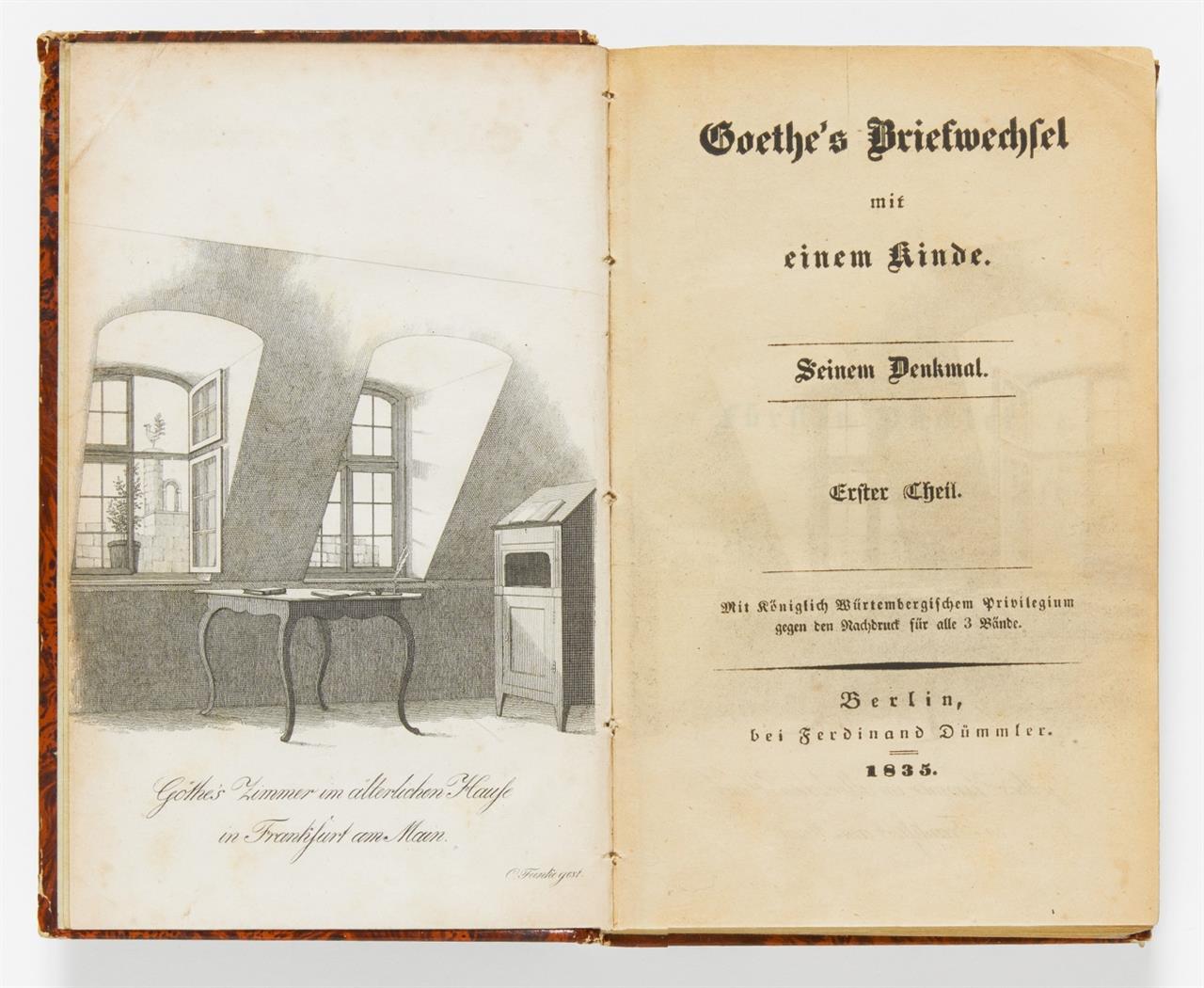 B. v. Arnim, Goethe's Briefwechsel mit einem Kinde. 3 Bde. Berlin 1835.
