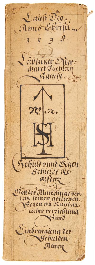 Straub, Hans I. Rechnungsbuch zur Leipziger Ostermesse 1598. Nürnberg 1598. Handschrift auf Papier.