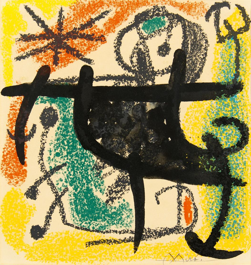 Joan Miró. Aus: Les Essencies de la Terra. 1968. Farblithographie. Signiert. M. 576.