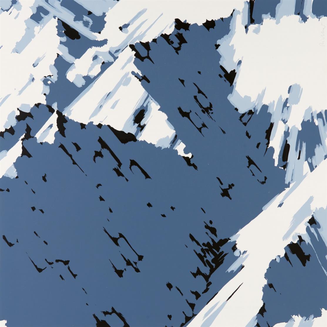 Gerhard Richter. Schweizer Alpen B3. 1969. Farbserigraphie. Signiert. Griffelkunst. B. aus 20.