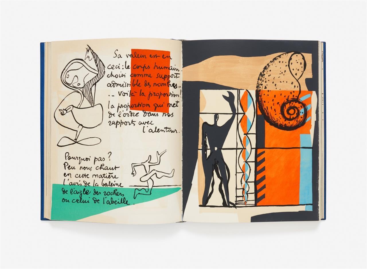Le Corbusier, Le poème de l'angle droit. Lithographies originales. Paris 1955. - Ex. 167/250. - In Meistereinband v. A. W. Johnson.