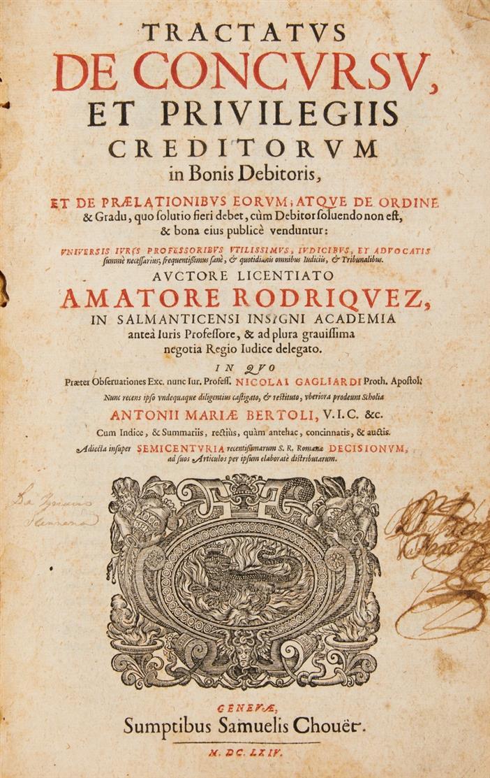 A. Rodríguez, Tractatus de concursu. Genf 1664.