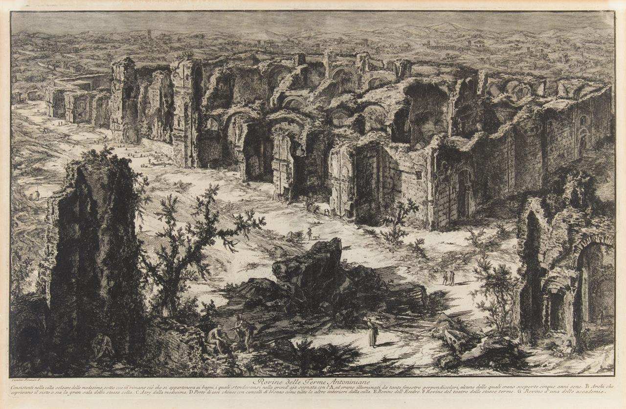 G. B. Piranesi. Rovine delle Terme Antoninianae (Caracalla-Thermen). 1765. Radierung. H. 76; W-E. 153.