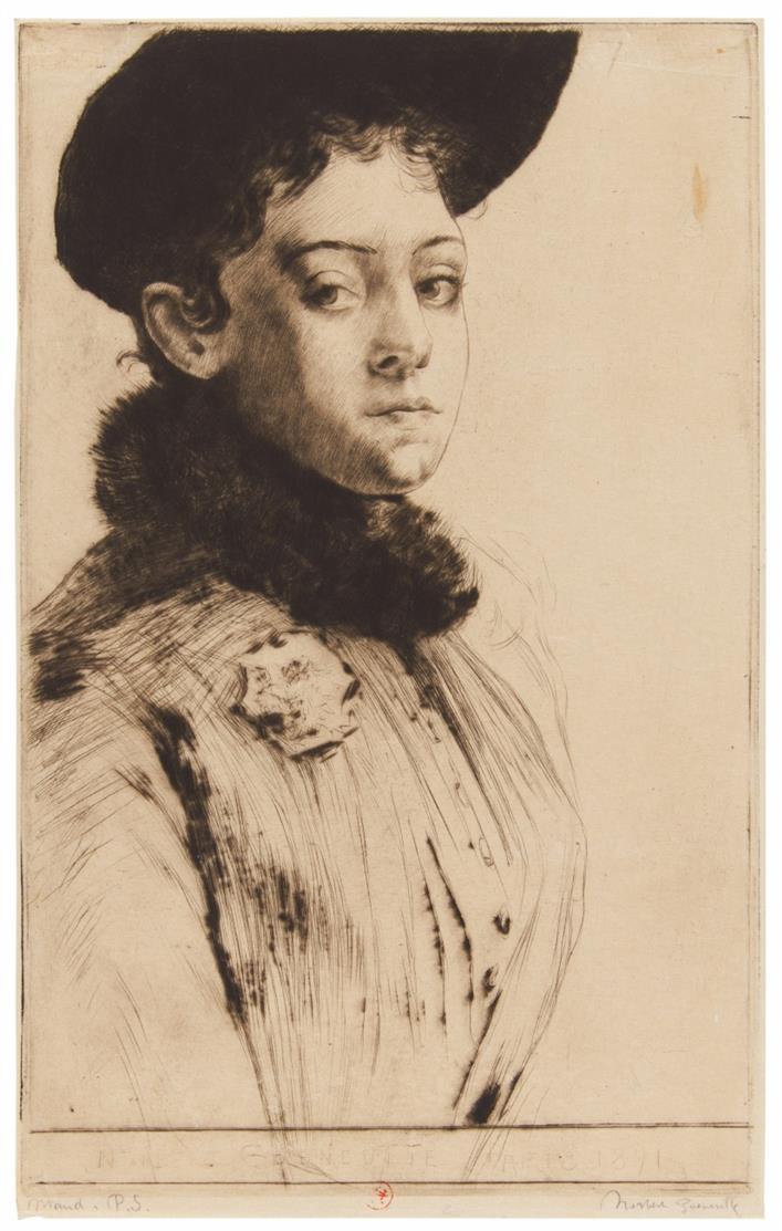 Norbert Goeneutte. Junges Mädchen. Radierung.1891.