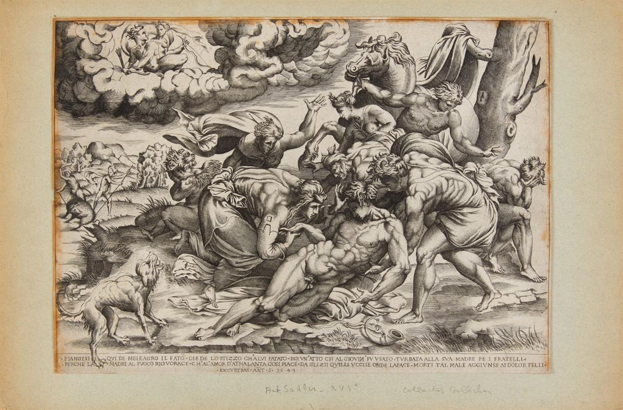 Nicolaes Beatrizet. Der Tod des Meleager. 1543. Kupferstich bei A. Salamanca.