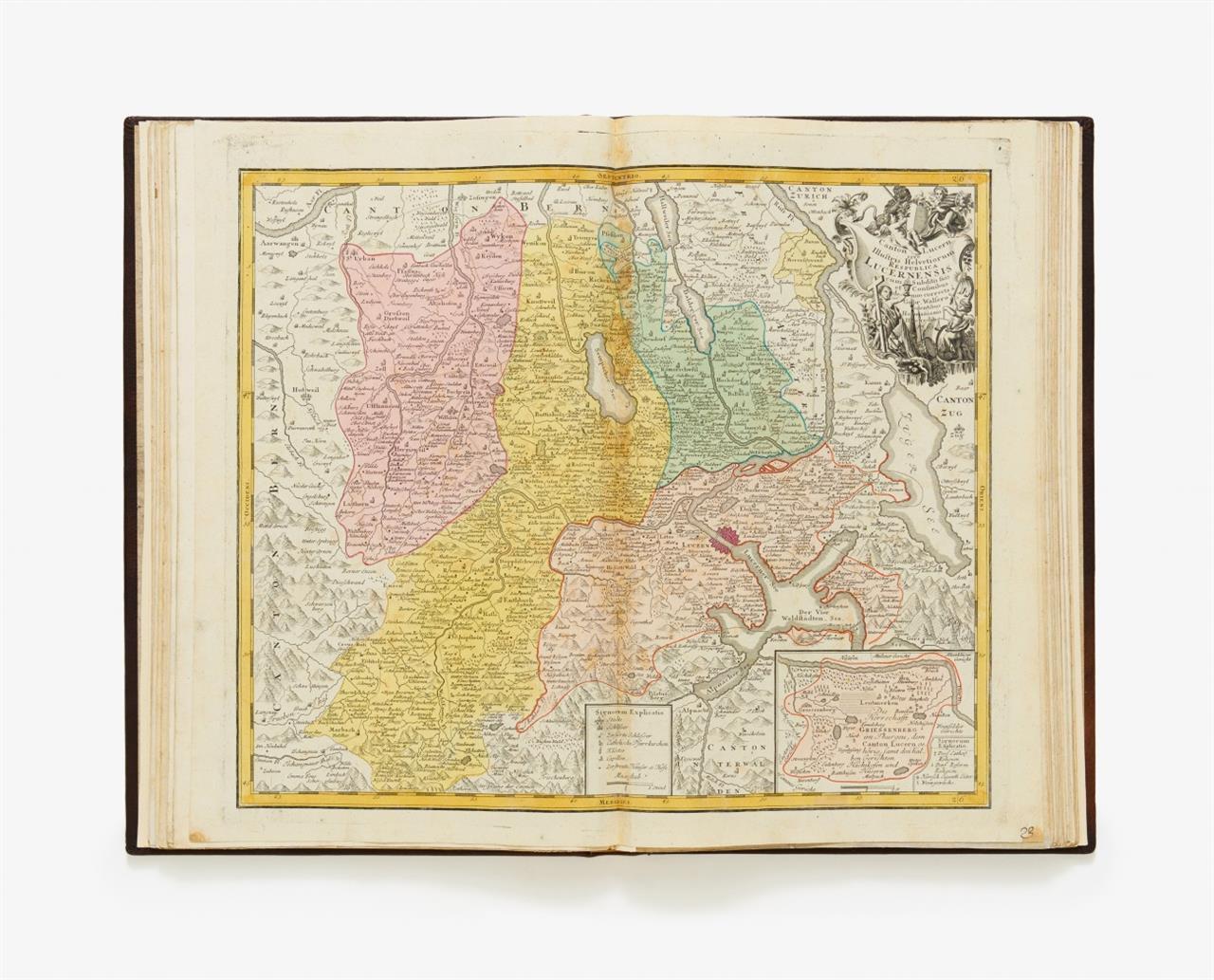 Sammelatlas. Europa u. Welt. Nürnberg, Homann u. Homann Erben, 18. Jh. - 50 kolor. Kupferkarten.