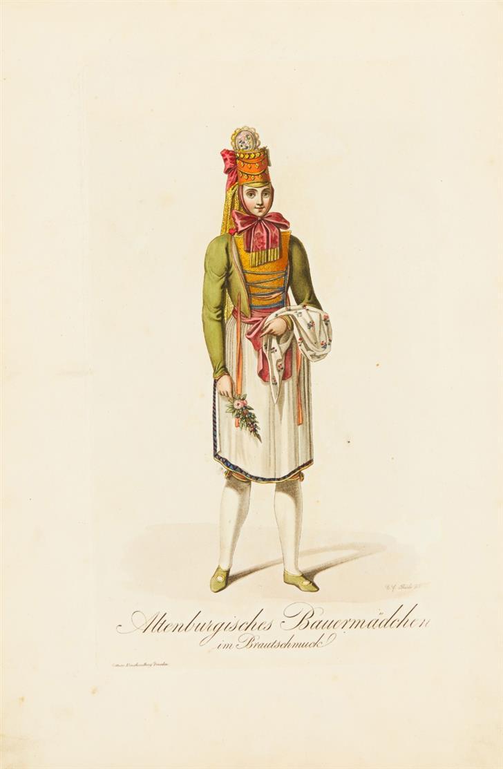 H. Rittner, Dresden mit seinen Prachtgebäuden und schönsten Umgebungen. 1808. - Angeb.: Costumes in Sachsen. Dresden ca. 1807