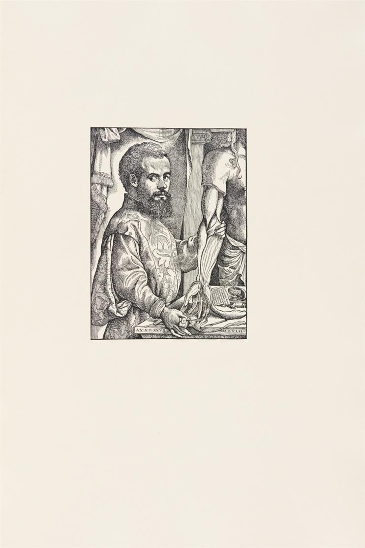 A. Vesalius, Icones anatomicae. Bremer Presse 1934-35. - Eines von 110 röm. num. Ex.
