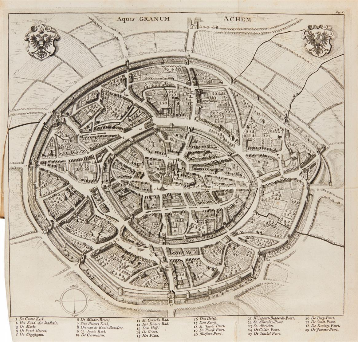 F. Blondel, Beschryving van de beroemde stad Aken. Leiden 1727.