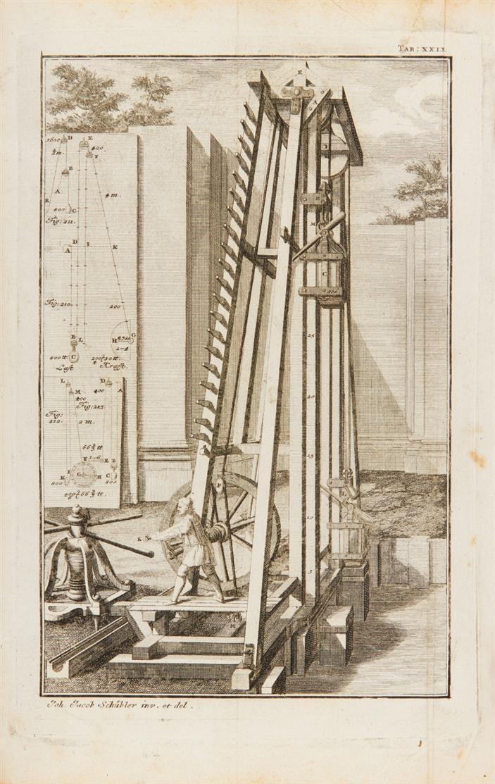 J. J. Schübler, Nützliche Anweisung zur Zimmermannskunst. Nürnbg. 1731.