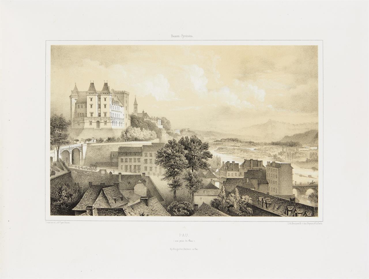 A. Gorse, Vues des Pyrénées. Pau ca. 1857.