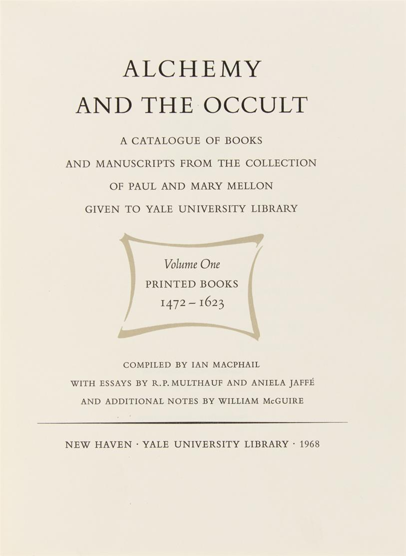 I. Macphail, Alchemy and the occult. Mellon collection.  Bde. 1 u. 2 (v. 4). 1968.