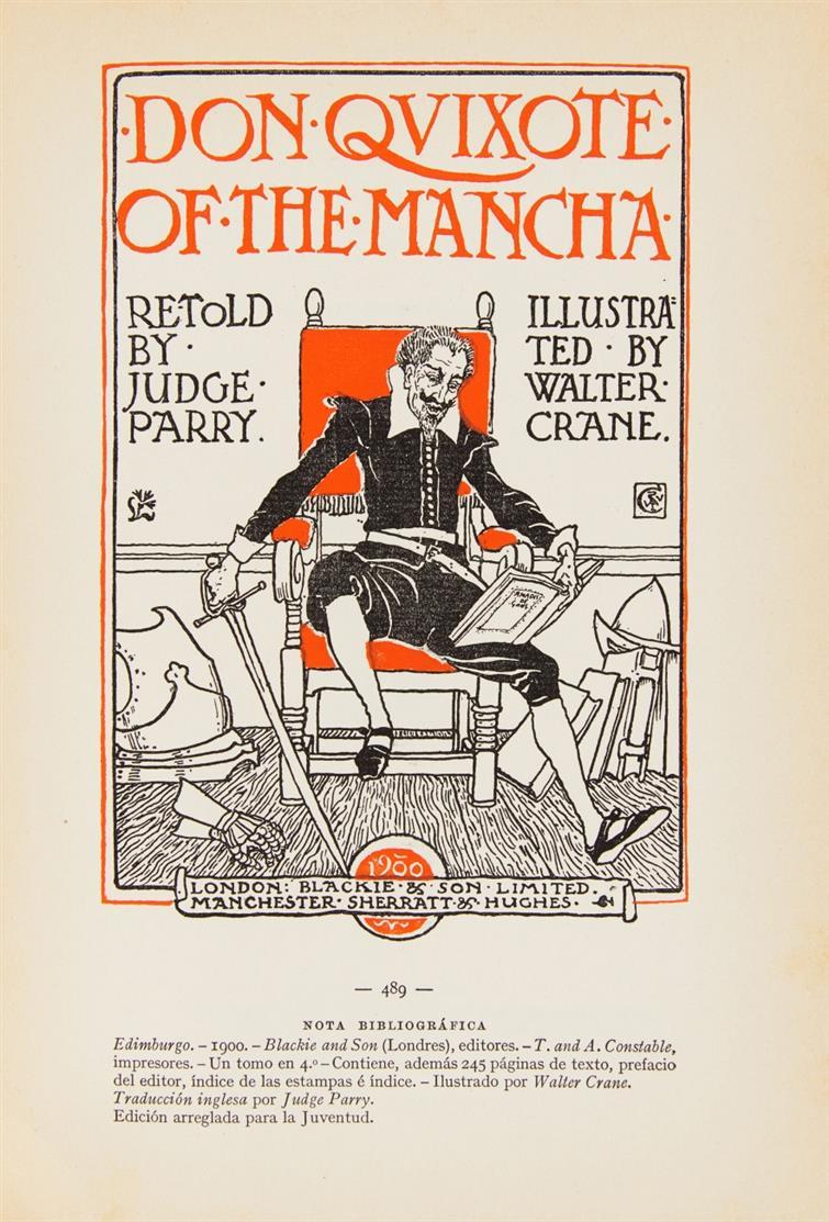 M. Henrich, Iconografía de las ediciones del Quijote. Reprod. en facsímile... 3 Bde. 1905.