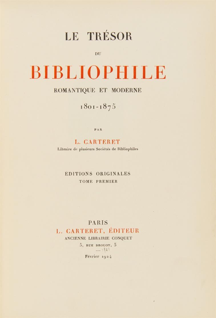 L. Carteret, Le trésor du bibliophile romantique et moderne. 4 Bde. Paris 1924-28.