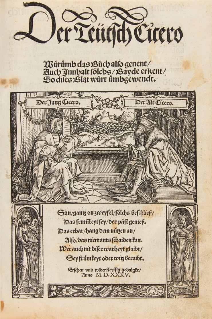 M. T. Cicero, Der Teutsch Cicero. Augsburg 1535.