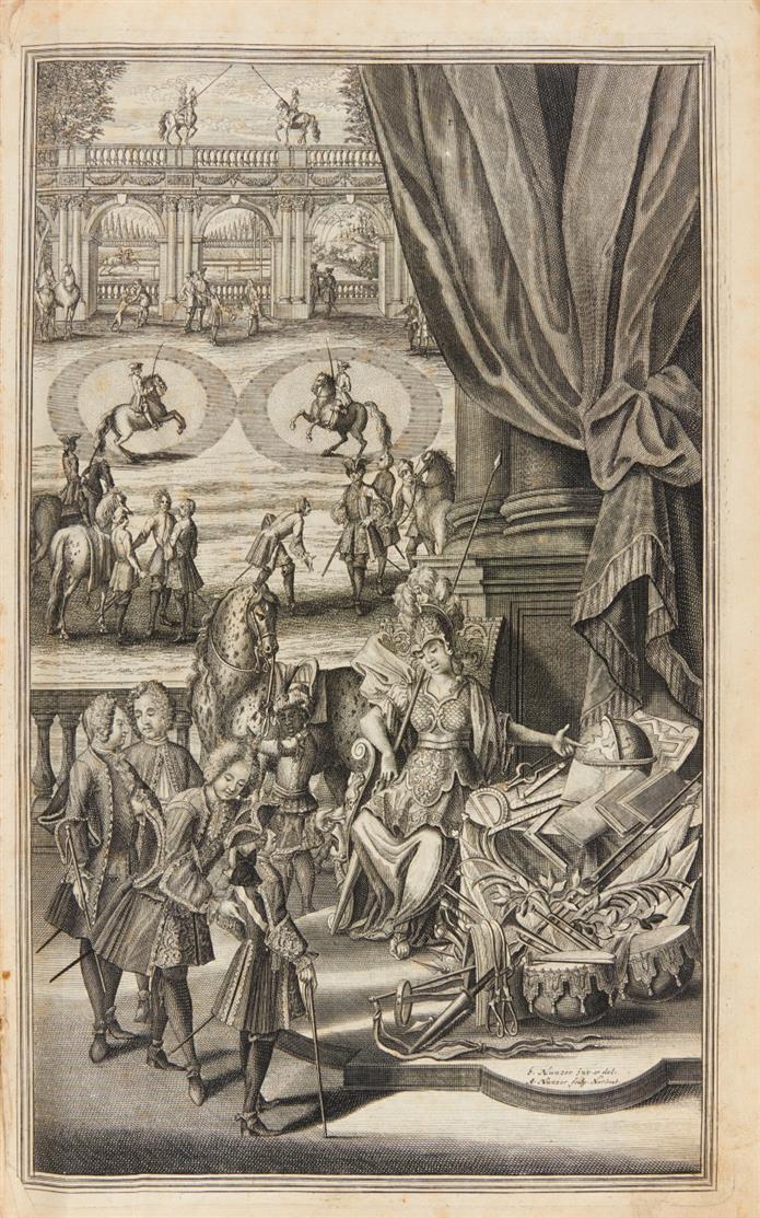 v. Löhneisen, Neu-eröffnete Hof- Kriegs- und Reit-Schul. 6 in 1 Bd. Nürnberg 1729