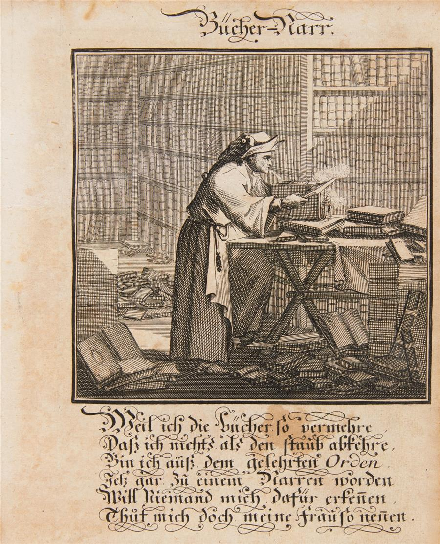 Abraham à S. Clara, Centi-Folium Stultorum ...oder Hundert Ausbündige Narren. Nürnb. 1709.