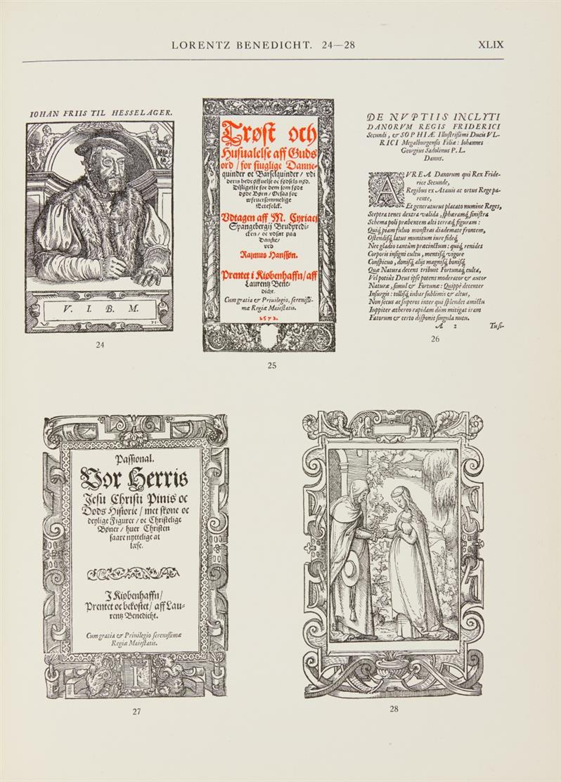 L. Nielsen, Dansk bibliografi 1482-1600. 4 Bde. 1919-1935. + Boghist. Studier... 1923.