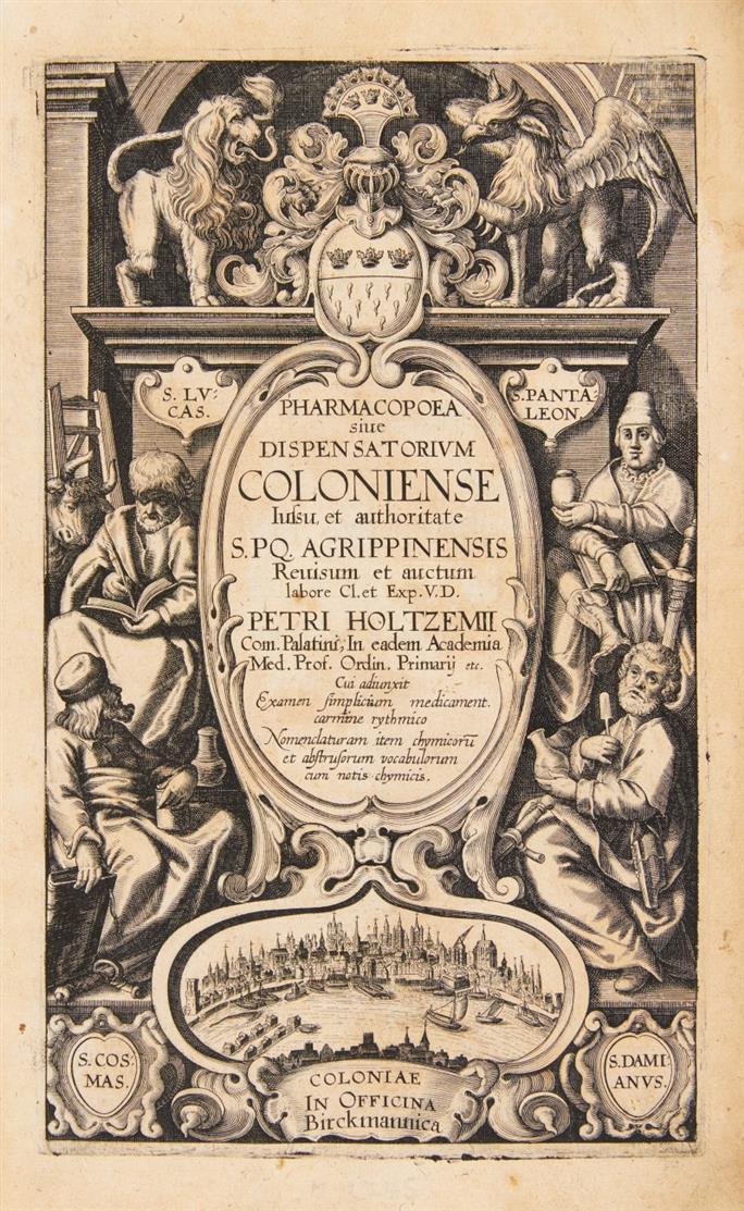 Pharmacopoea sive dispensatorium Coloniense. Revisum et auctum Petri Holtzemii. Köln 1627-28.