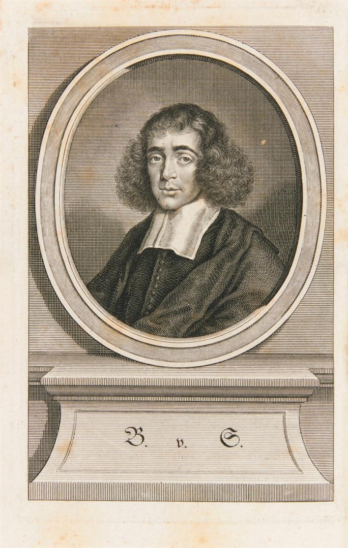 B. de Spinoza, Sittenlehre widerleget von ... Christian Wolf. Aus dem Lateinischen. 2 Tle. in 1 Bd. Frankf. u. Lpz. 1744.