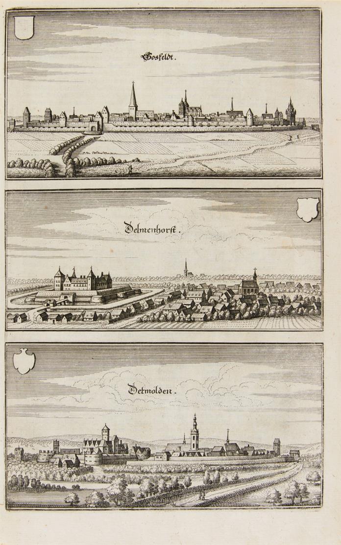 Merian - M. Zeiller, Topographia Westphaliae. Ffm 1647. - EA.