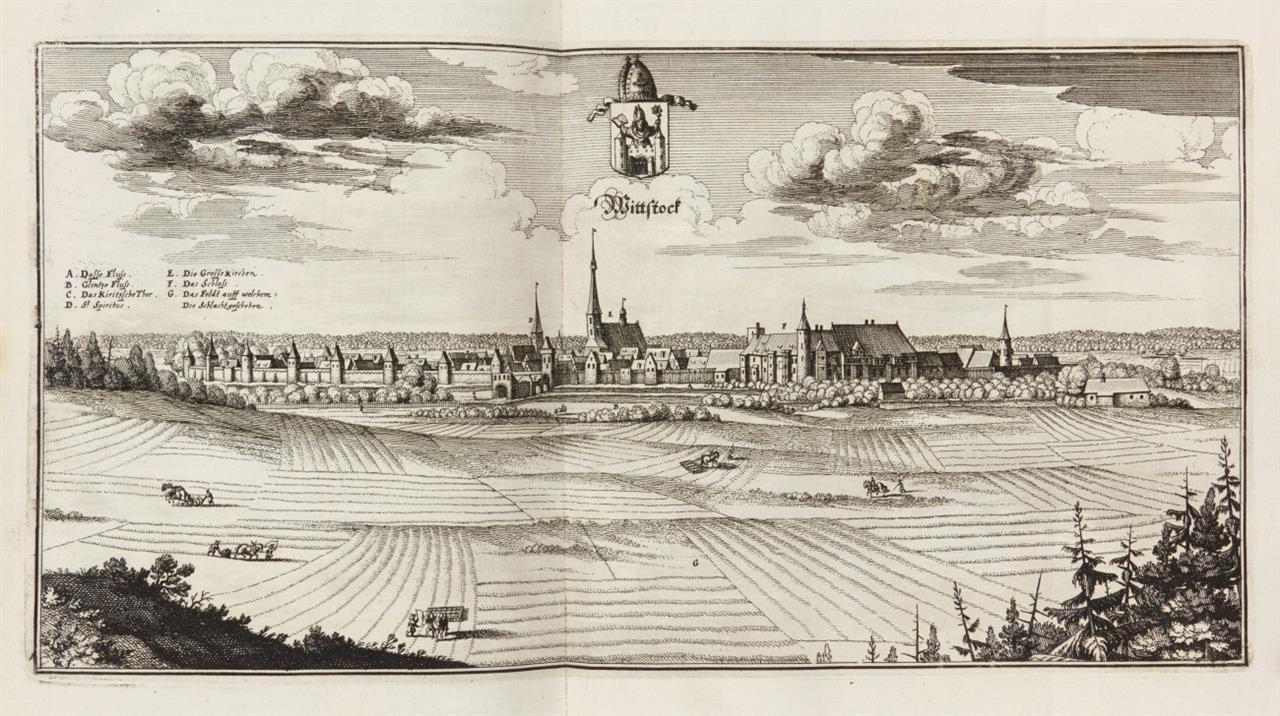 M. Zeiller, Topographia Electorat. Brandenburgici et Ducatus Pomeraniae. Ffm. 1652. - EA.