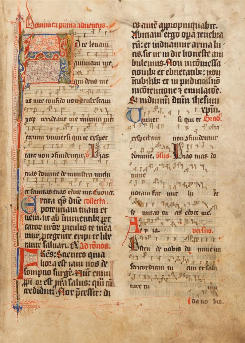 Missale Coloniense. Latein. Manuskript auf Pergament. (Köln?, um 1420). - Vorbesitz St. Severinus Erpel.