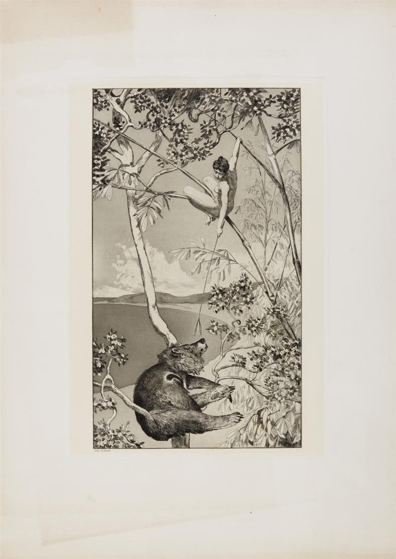 Max Klinger. Intermezzi. (1881). 11 (von 12 Blatt; ohne Blatt 4) Radierungen.