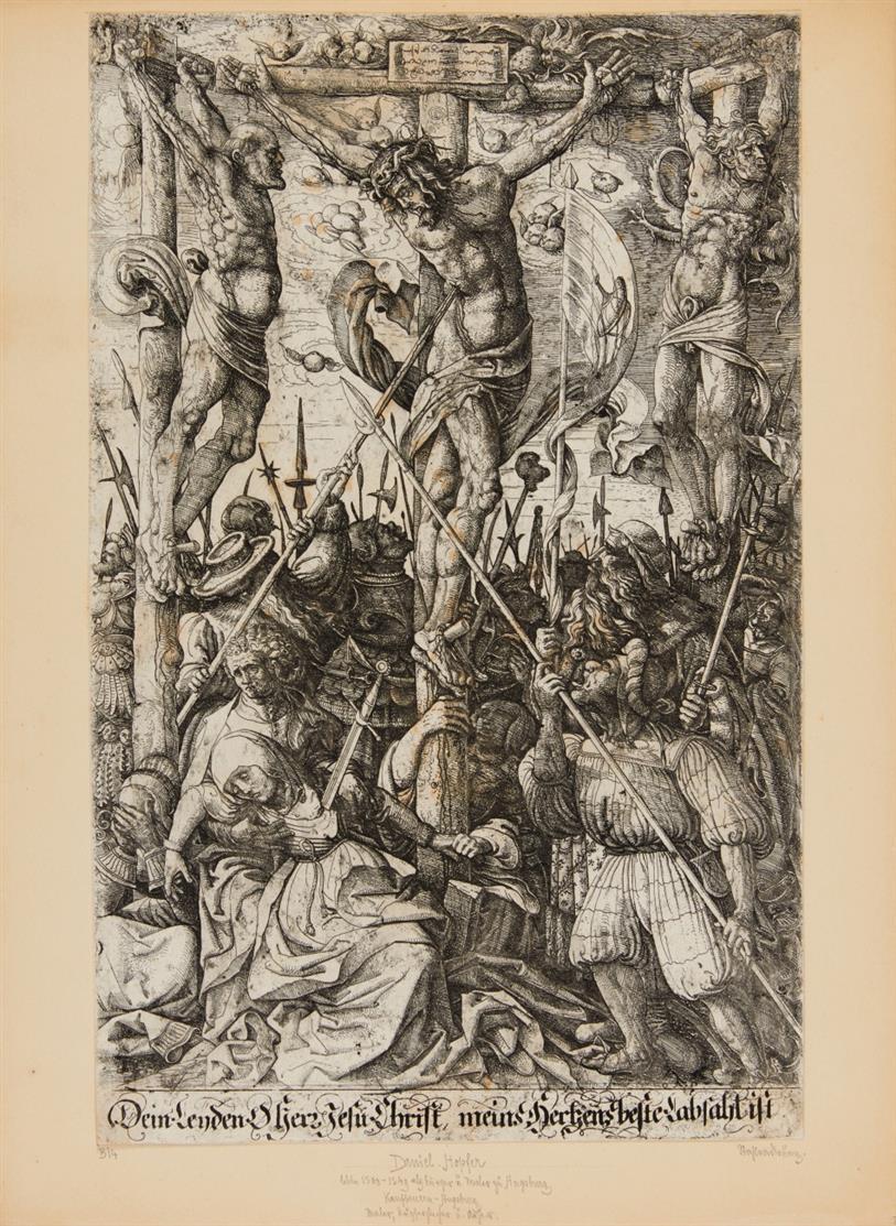 Daniel Hopfer. Kalvarienberg. Eisenradierung. Hollstein 19 III; B.14.