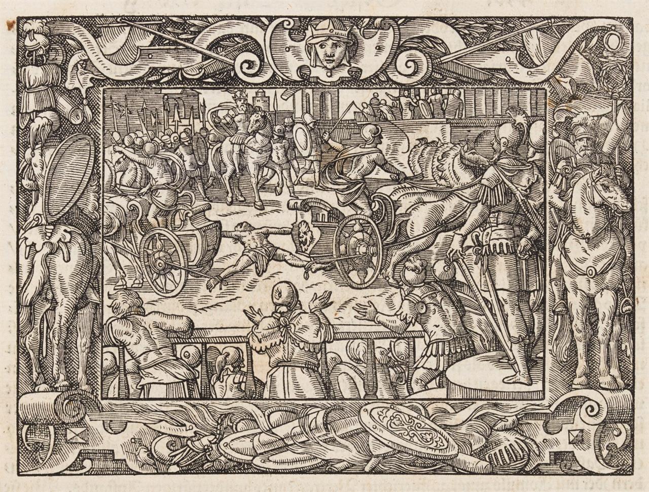Titus Livius u. Lucius Florus,  Römische Historien. Straßburg 1575.