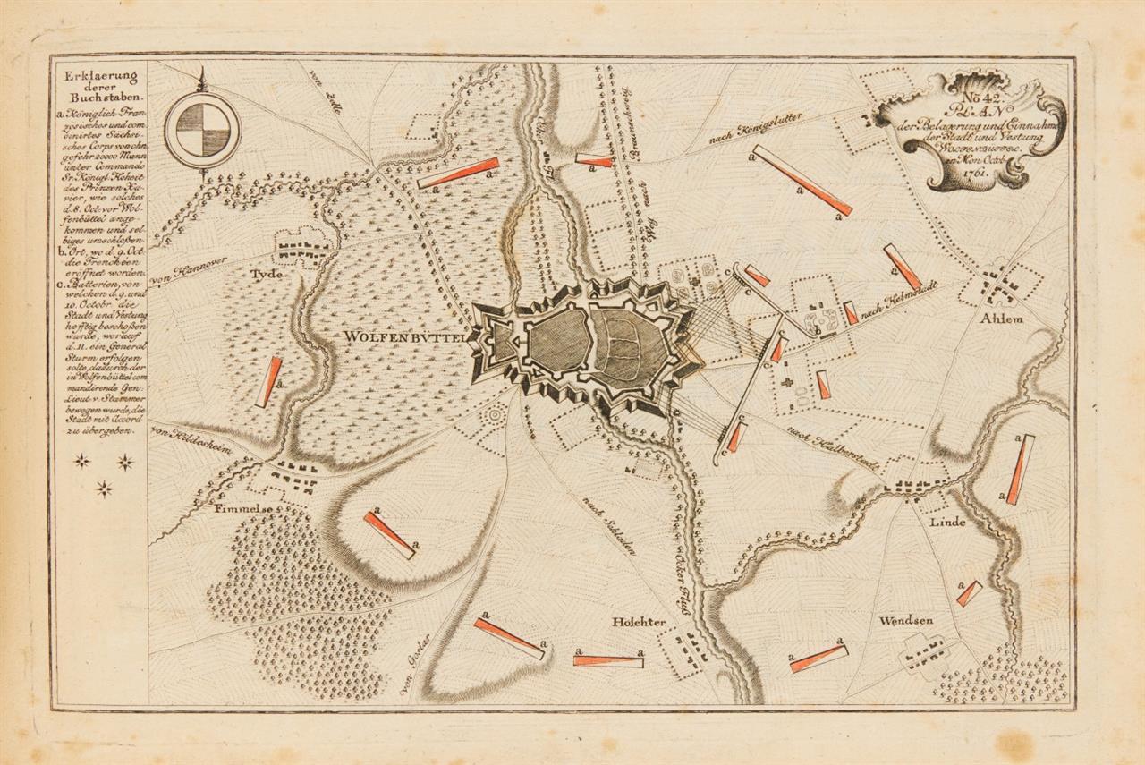 Neues Kriegs-Theater. Tafelband mit 80 Karten. Lpz 1758 [1762].