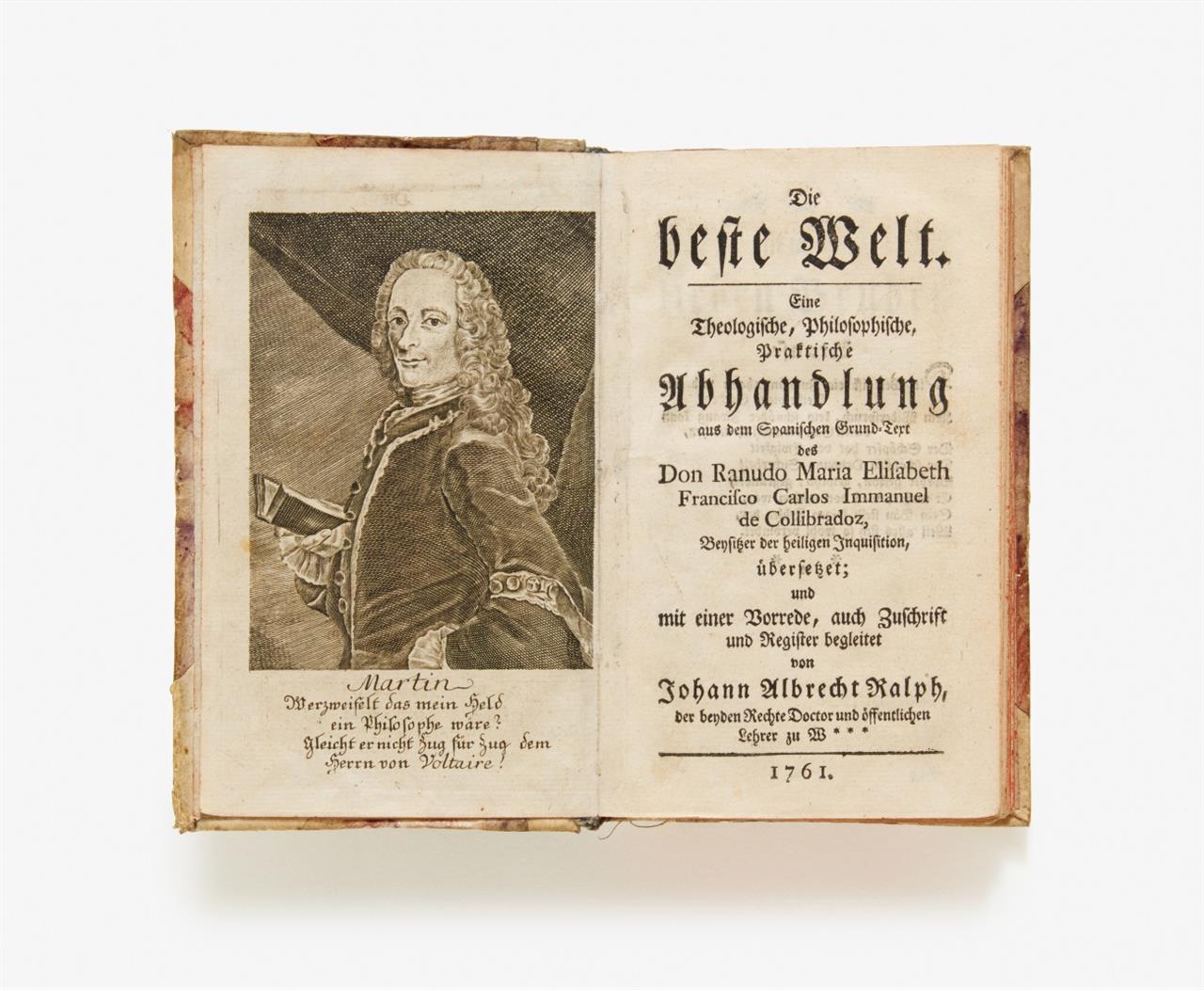 Voltaire, Jacquin und Walsh, Sammelband mit 3 Schriften. 1760-61.