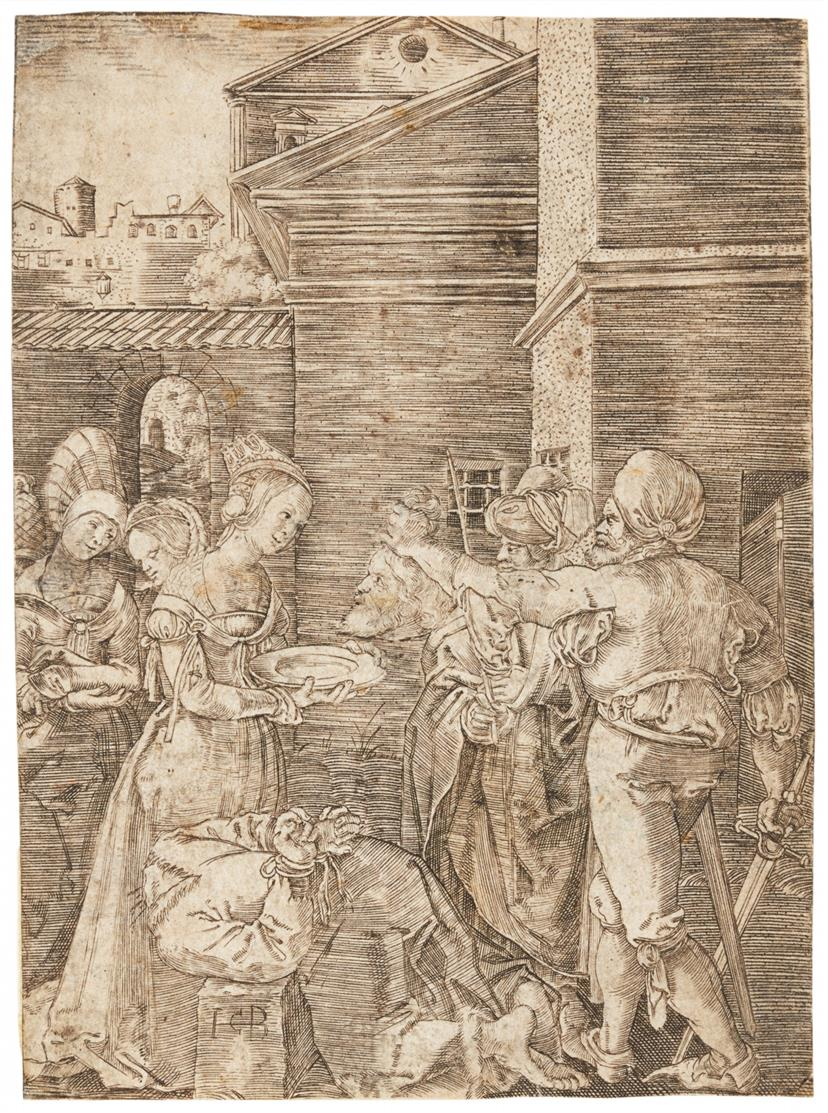 Jakob Binck. Die Enthauptung Johannes des Täufers. Kupferstich. H. 66; B. 15.