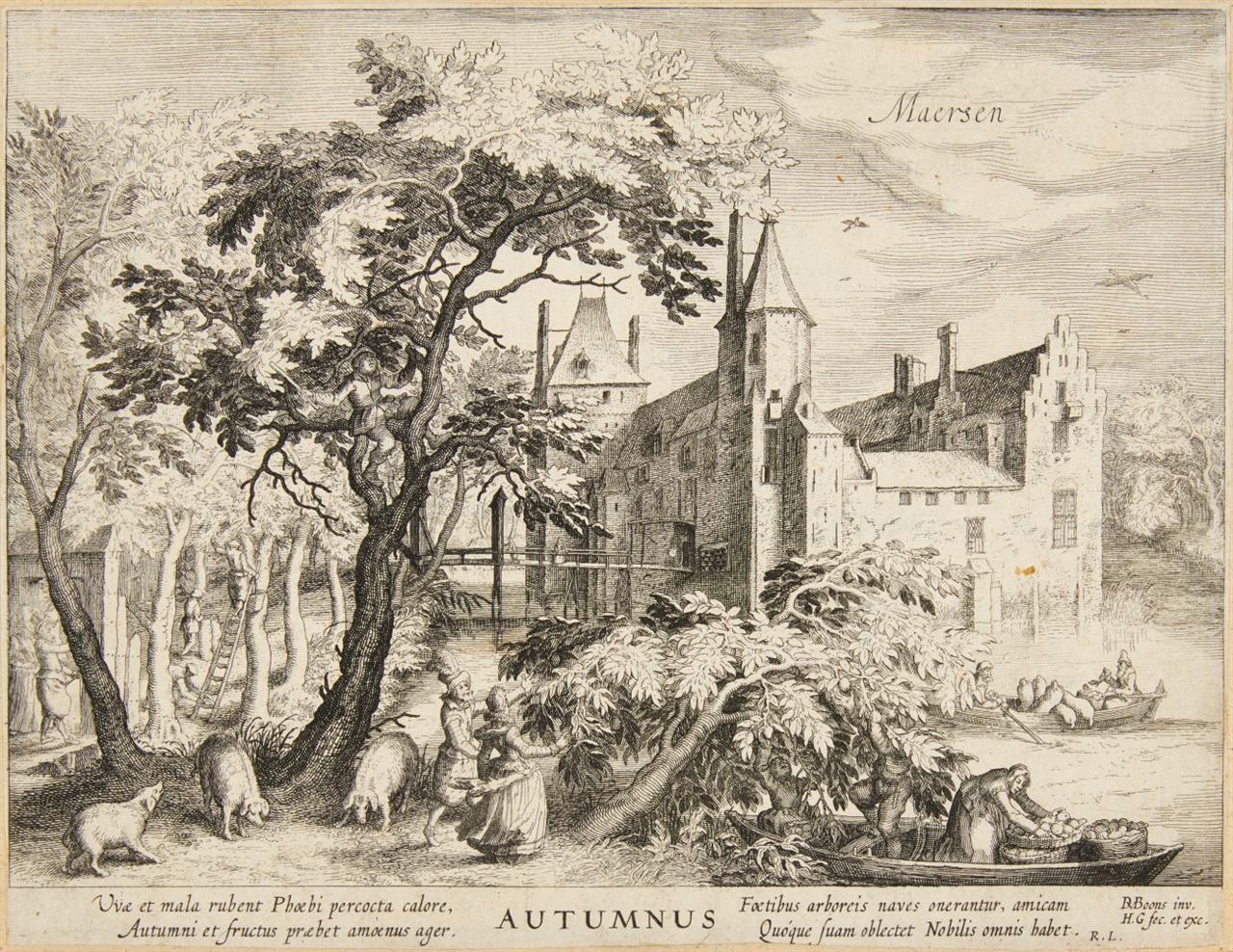 Hessel Gerrits. Maersen (Autumnus). Kupferstich aus