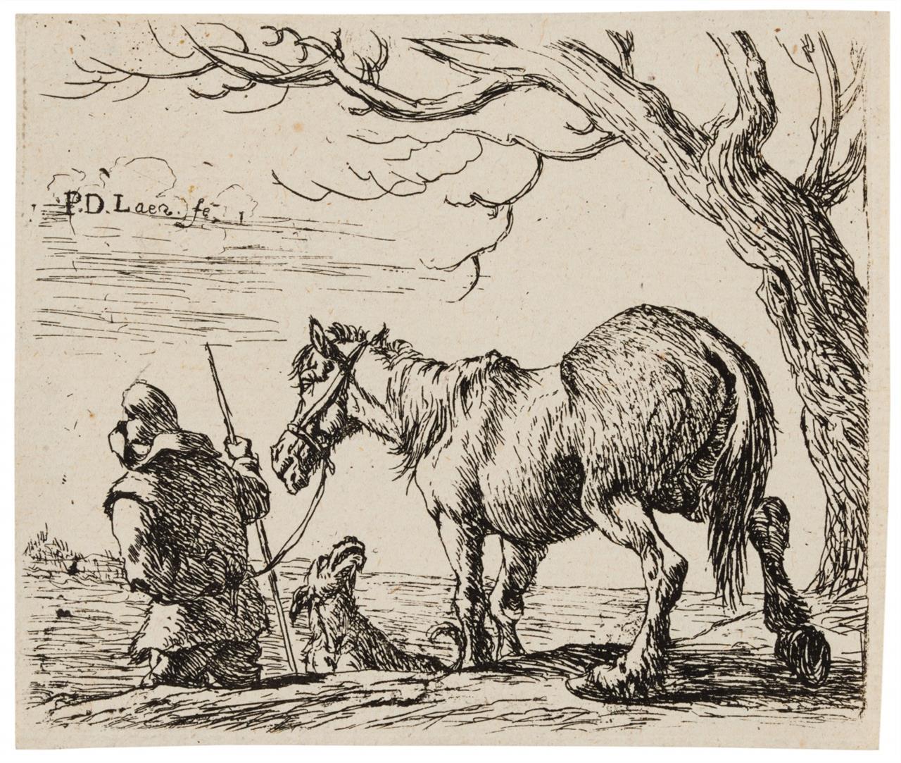 Pieter de Laer. Folge von Pferden. 6 Blatt Radierungen.