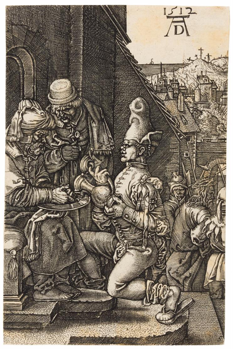 Albrecht Dürer, Kopie. 7 Blatt a. d. Kupferstich-Passion. Teils gegens. Kopien.