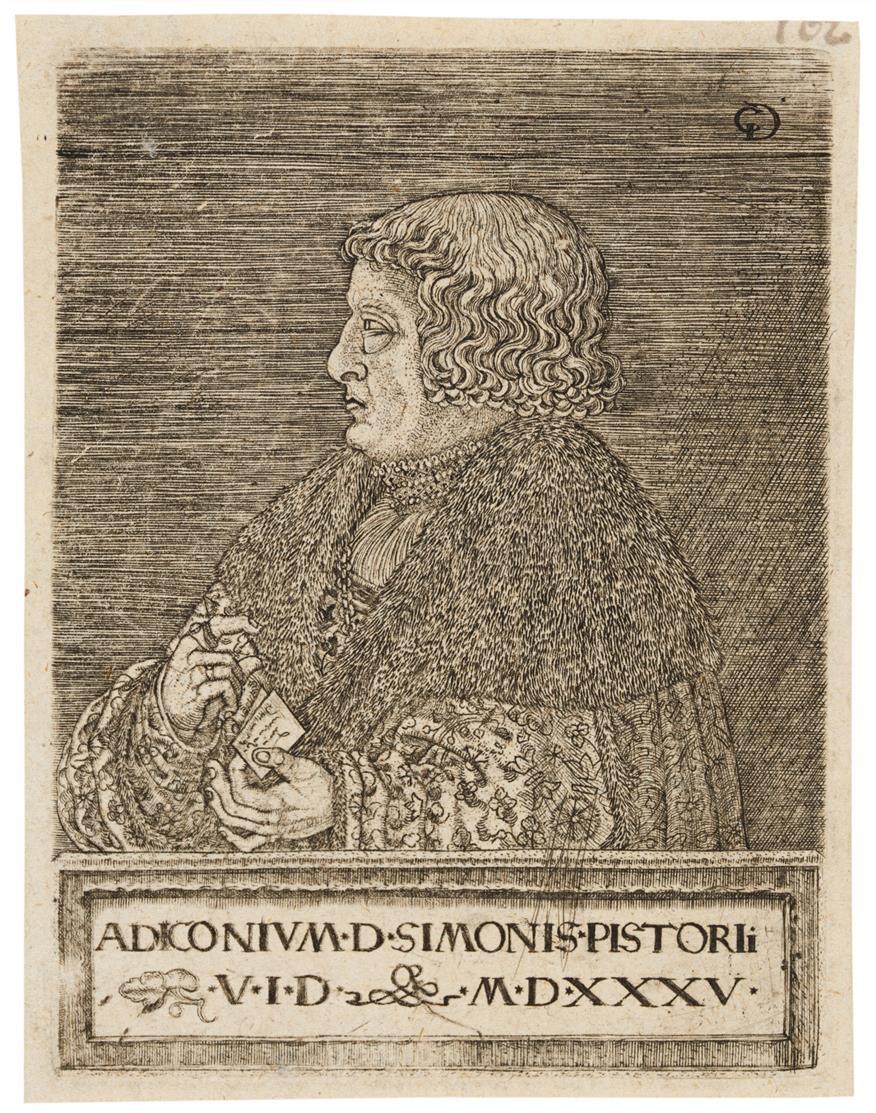 Monogrammist CG. Bildnis des Simon Pistorius. 1535. Kupferstich.