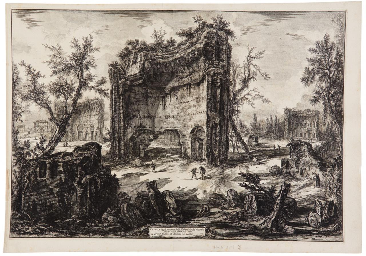 G. B. Piranesi. Veduta degli Avanzi .... 1776. Radierung. H. 127; W-E. 260.
