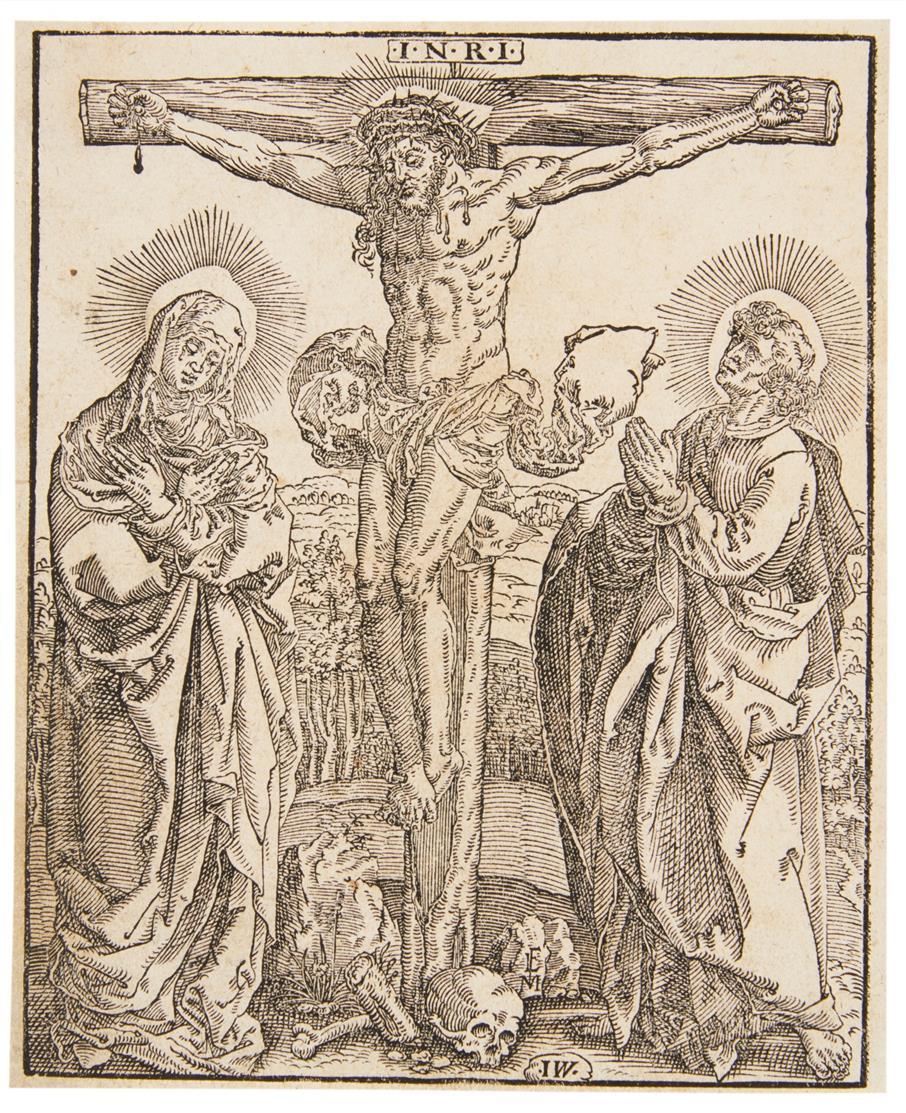 Monogrammist IW. Christus am Kreuz. Um 1580. Holzschnitt.