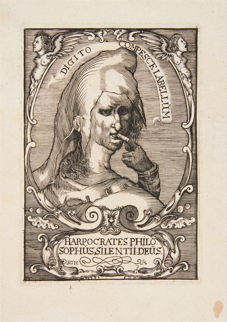 Monogrammist SGH nach Jan Muller. Harpocrates Philosophus. Kupferstich.