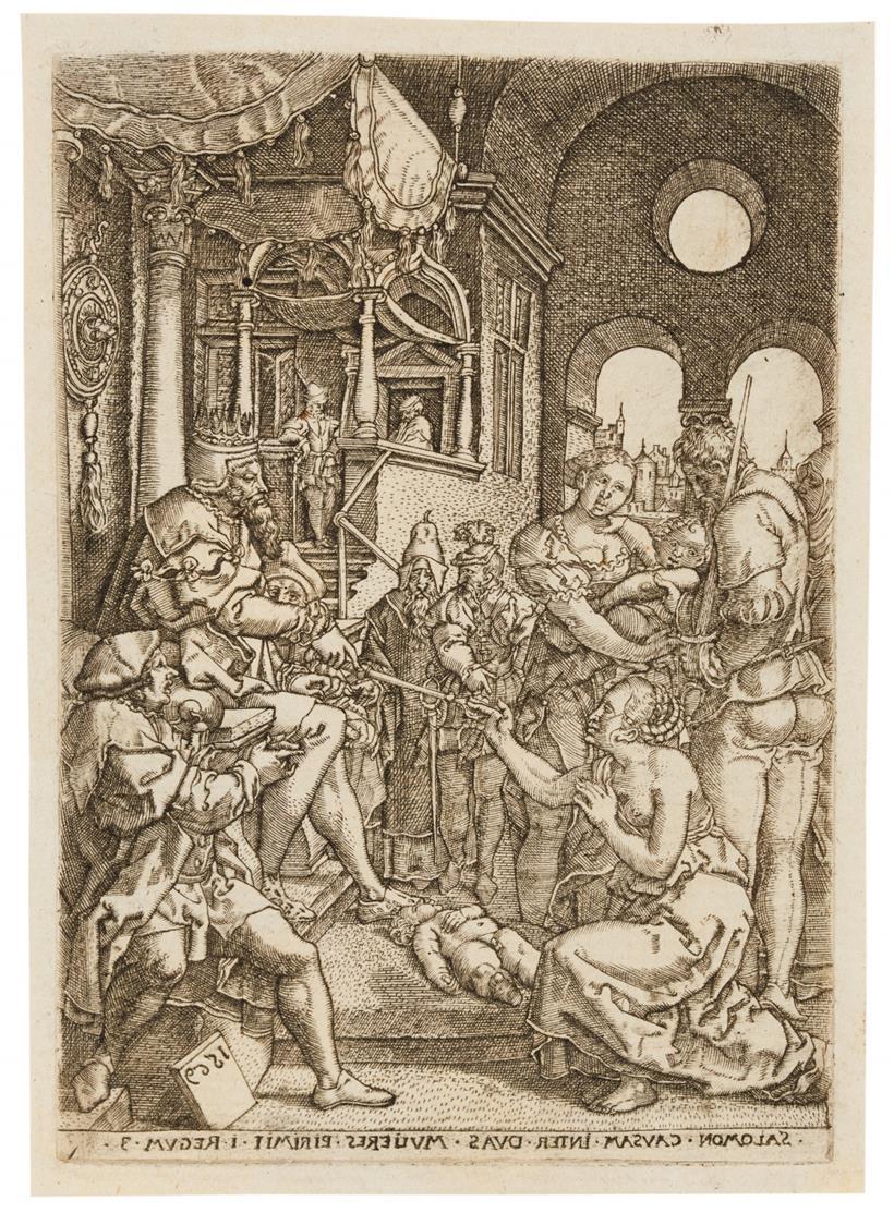 Monogrammist AT nach H. Aldegrever.. 2 Blatt Kupferstiche 1570 / 1569.