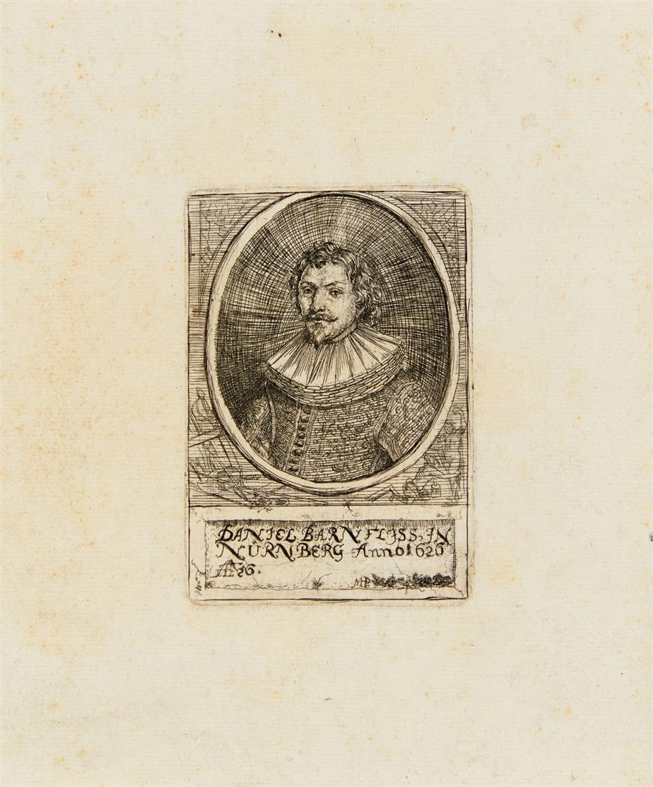 Monogrammist MHP. Bildnis des Daniel Barnfliss. Radierung.