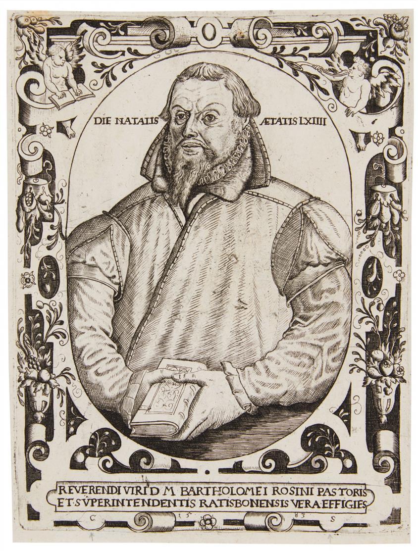 Conrad Saldörffer. Bildnis des Bartholomäus Rosinus. 1583. Kupferstich. H. 17.