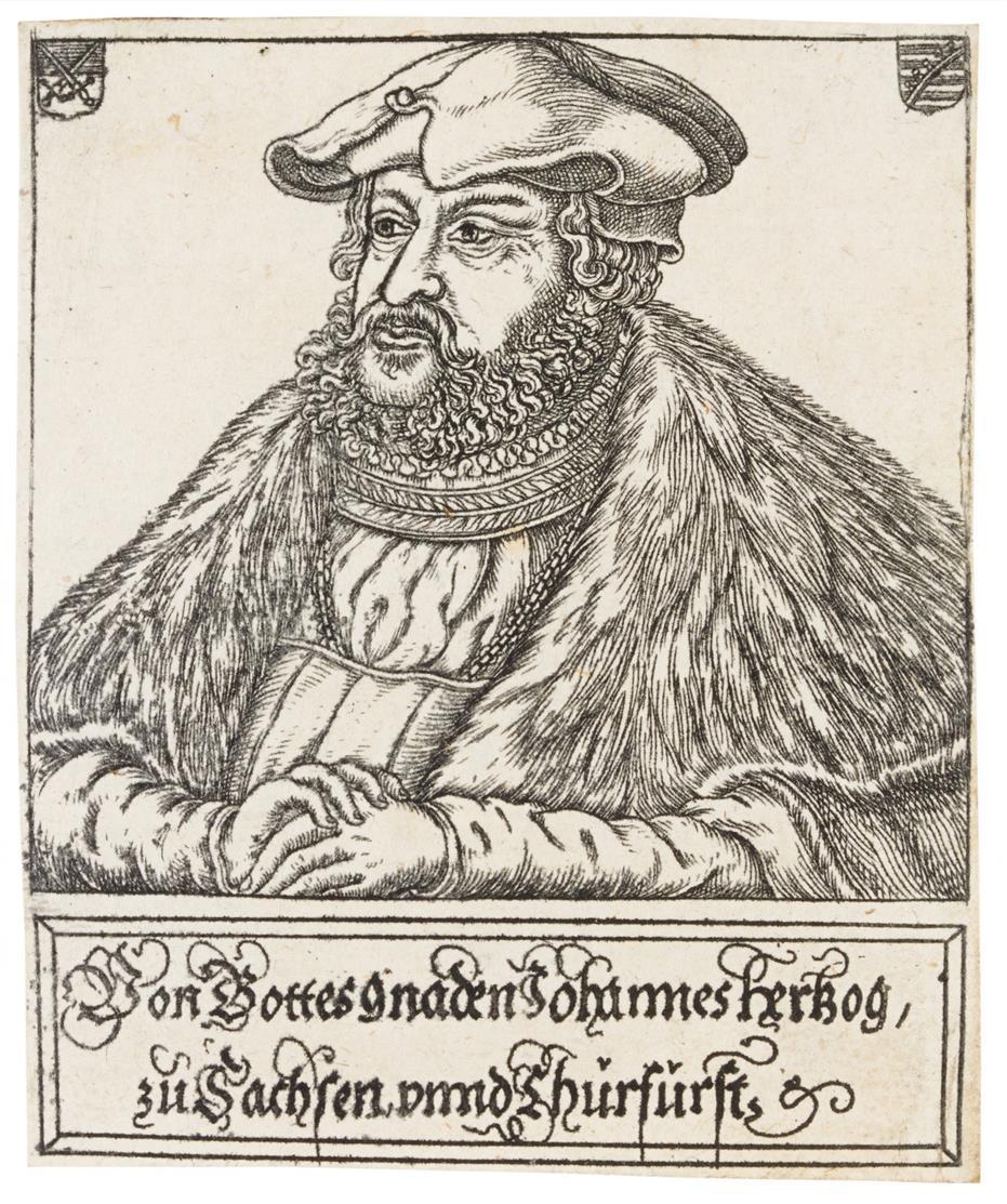 Balthasar Jenichen. Porträts. 10 Rad. / Allegorie d. Knechtschaft / Frühling. 2 Rad.