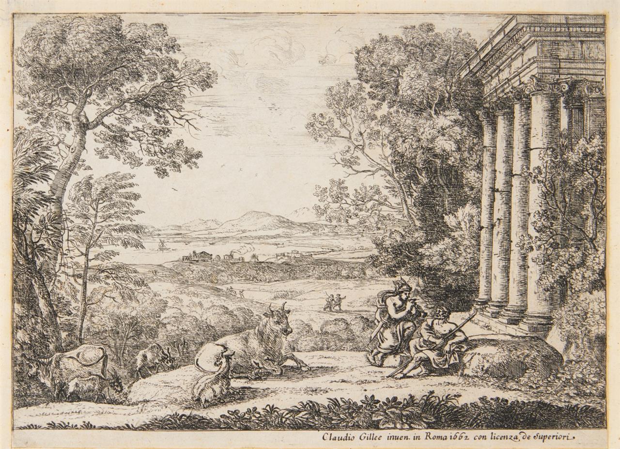 Claude Gellée, gen. Lorrain. Merkur und Argus. 1662. M. 42 II, D - III.