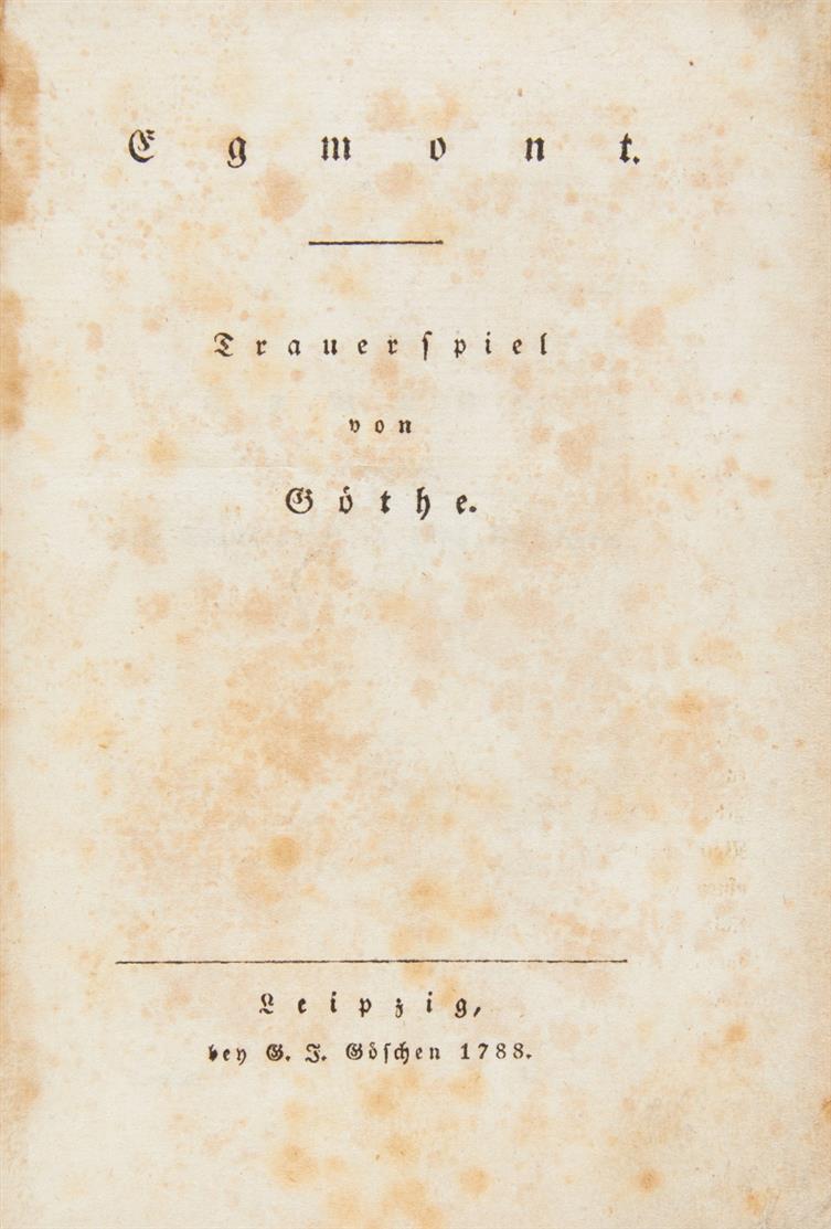 J. W. v. Goethe, Egmont. Lpz 1788.