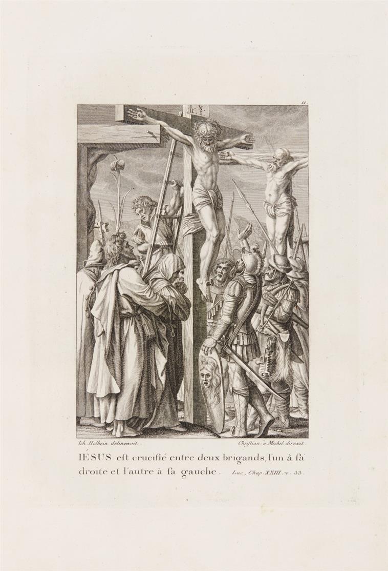 C. v. Mechel, Oeuvre de Jean Holbein. Bd. 1 u. 2 (v. 4) in 1 Bd. Basel 1780-84.