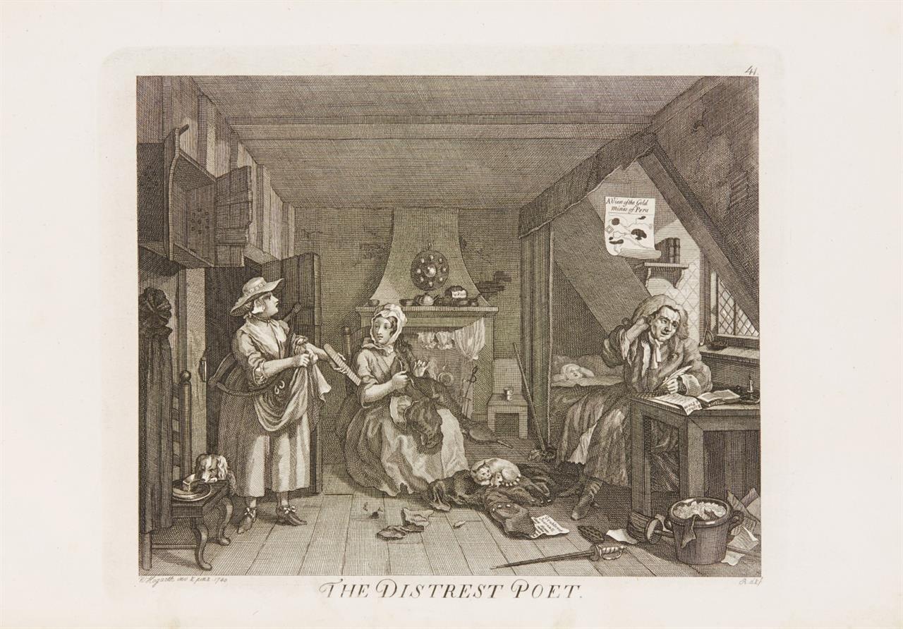 G. C. Lichtenberg, Ausführliche Erklärung d. Hogarthischen Kupferstiche. 14 Bde. 1794-1816.