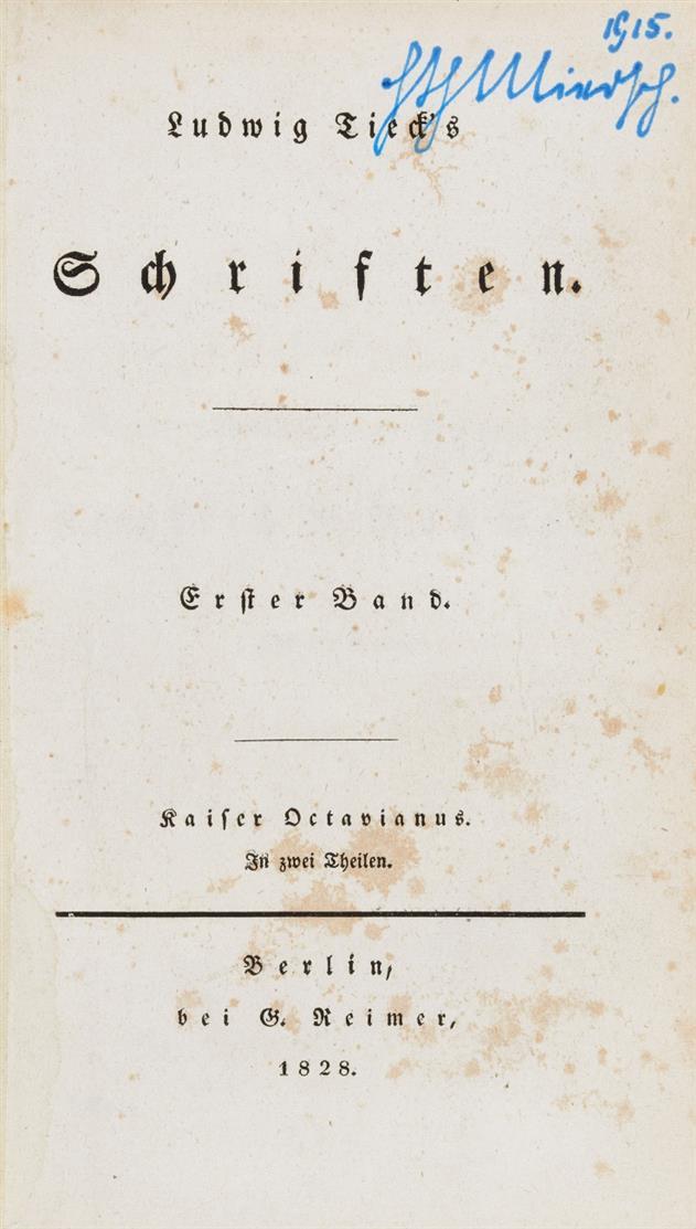 L. Tieck, Schriften. 28 Bde. Bln 1828-1854.